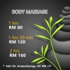 BODY MASSAGE @ After 6pm